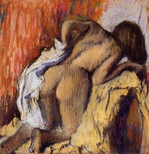 Woman Drying Herself 4