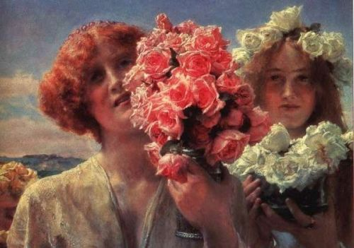 Young Girls with Roses