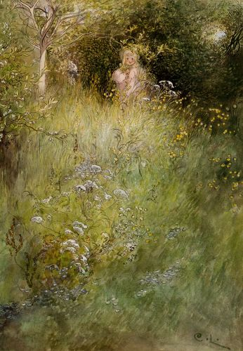 A Fairy, or Kersti, and a View of a Meadow