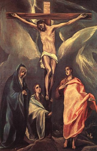 Christ on the Cross with the Two Maries and St John