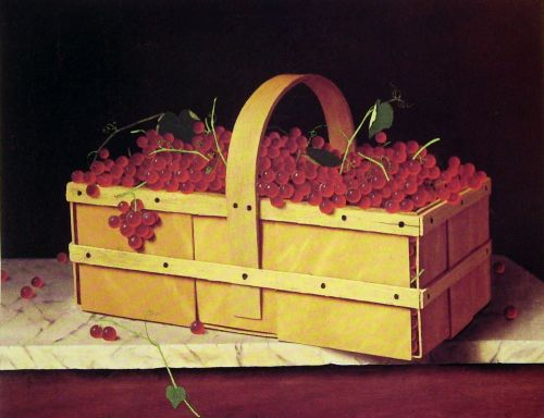 A Wooden Basket of Catawba-Grapes