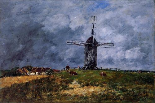 Cayeux, Windmill in the Countryside, Morning