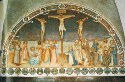 Crucifixion and Saints