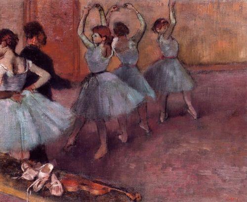 Dancers in Light Blue