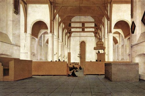 Interior of the Church of St Odulphus in Assendelft