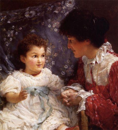 Mrs. George Lewis and Her Daughter Elizabeth