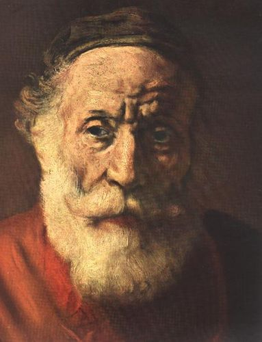 Portrait of an Old Man in Red (detail) 1