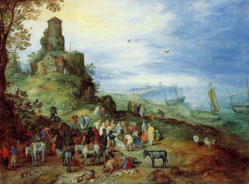 Coastal Landscape with the Calling of the Apostles Peter and