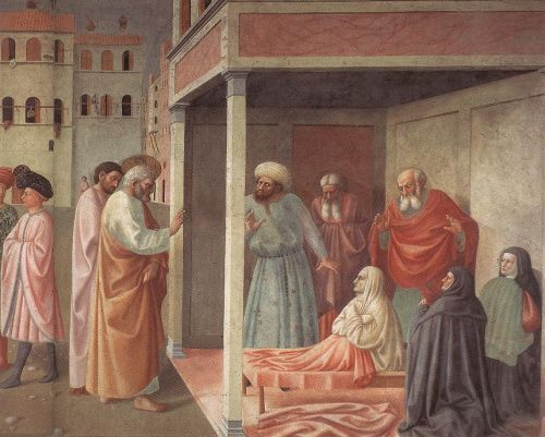 Healing of the Cripple and Raising of Tabatha (right view)