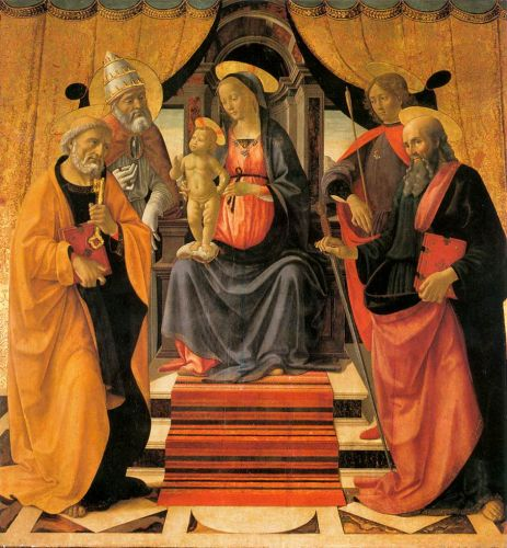 Madonna and Child Enthroned with Saints 1