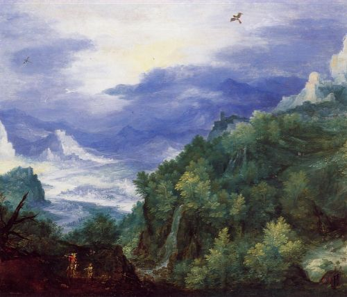 Mountain Landscape with View of a River Valley
