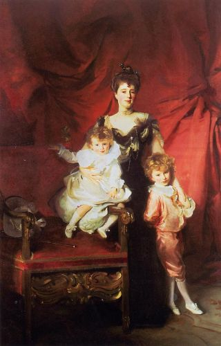 Mrs Cazalet and Children, Edward and Victor
