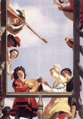 Musical Group on a Balcony