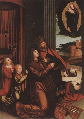 St Ladislas Presents Wladislav II and his Sons to the Virgin