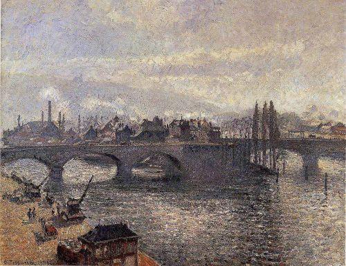 The Corneille Bridge, Rouen - Morning Effect