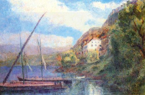 The Shores of Lake Geneva at Saint-Gingolph