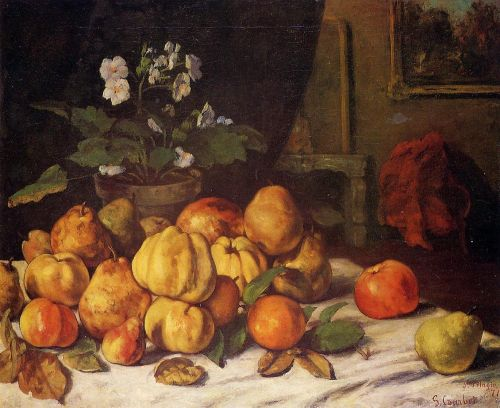 Still Life - Apples, Pears and Flowers on a Table, Saint Pel