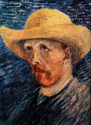 Self Portrait with Straw Hat 2
