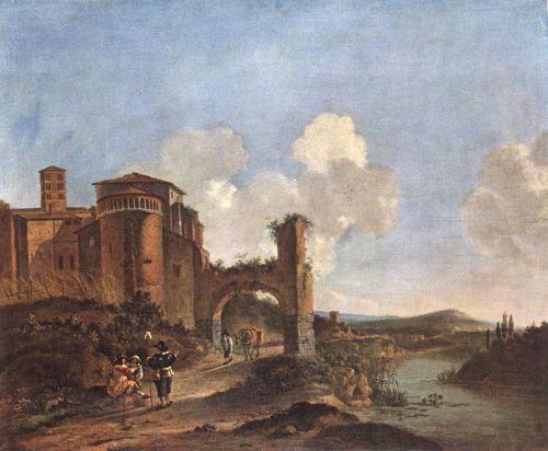 Italian Landscape with SS. Giovanni e Paolo in Rome
