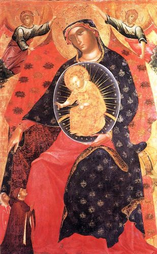 Madonna and Child with two Votaries