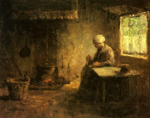 Peasant Woman by a Hearth