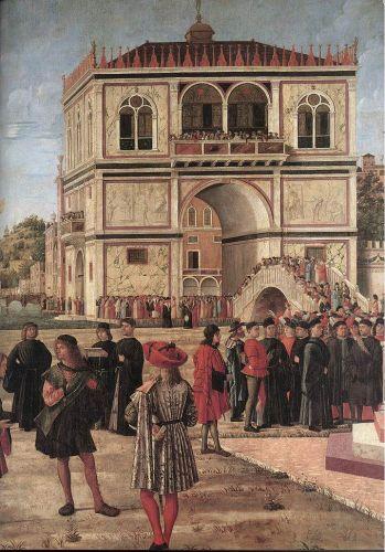 The Ambassadors Return to the English Court (detail)