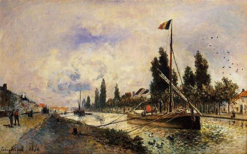 The Barge on the Canal near Paris