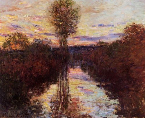 The Small Arm of the Seine at Mosseaux, Evening