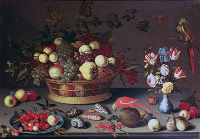 A Basket of Grapes and other Fruit,