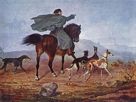 Ausritt zur Jagd, 1819