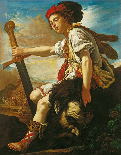 David with the Head of Goliath, c.1620