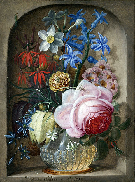 Flowers in a Vase in a Stone Niche, 1719