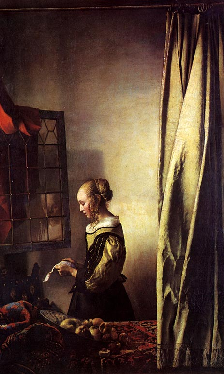 Girl Reading a Letter at an Open Window, c.1657