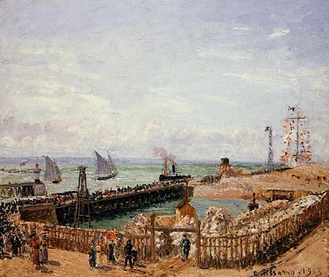 The Jetty, Le Havre - High Tide, Morning Sun, 1903