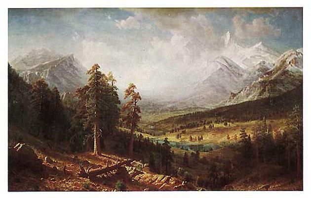 Albert Bierstadt Estes Park Oil Painting