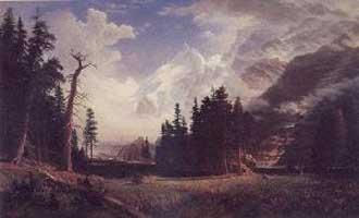 Albert Bierstadt The Morteratsch Glacier Oil Painting