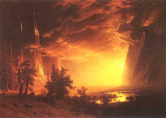 Albert Bierstadt YOSEMITE VALLEY Oil Painting