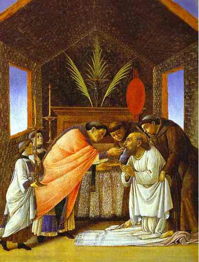 Alessandro Botticelli Last Communion of St. Jerome. Oil Painting