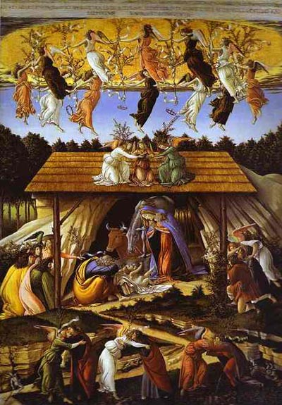 Alessandro Botticelli Mystic Nativity. Oil Painting
