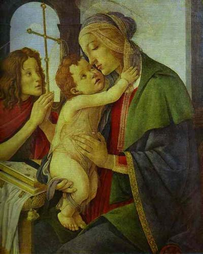 Alessandro Botticelli The Virgin and Child with the Infant St. John. Oil Painting