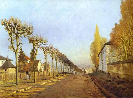 Alfred Sisley Chemin de la Machine Louveciennes Oil Painting