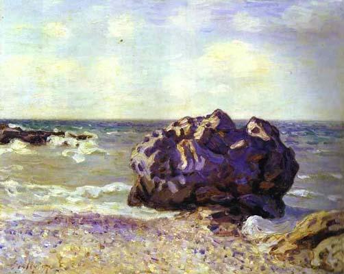 Alfred Sisley Langland Bay Storr s Rock Morning Oil Painting