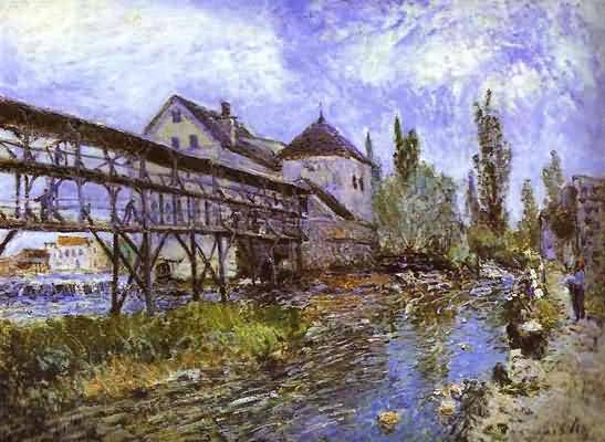 Alfred Sisley Provencher s Mill at Moret Oil Painting