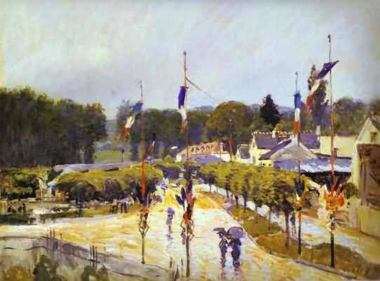 Alfred Sisley Snow at Marly le Roi Oil Painting