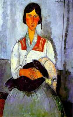 Amedeo Modigliani Gypsy Woman with Child Oil Painting