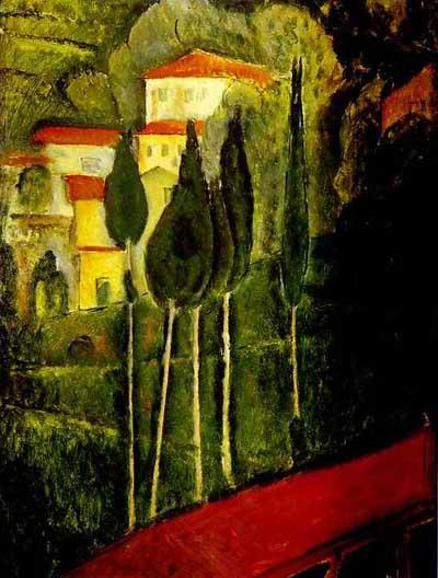Amedeo Modigliani Landscape Oil Painting