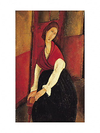 Amedeo Modigliani Portrait of Jeanne Hebuterne 1898 1920 Oil Painting