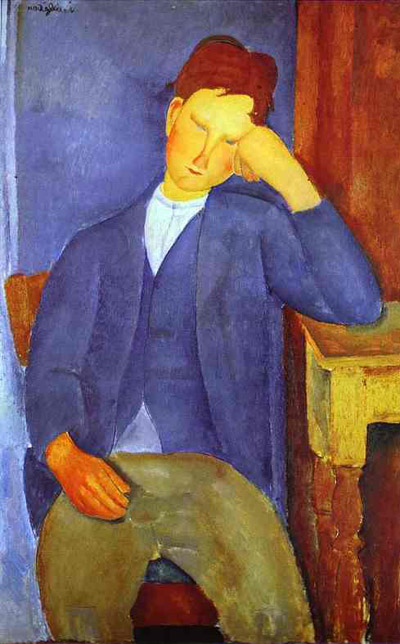 Amedeo Modigliani The Young Apprentice Oil Painting