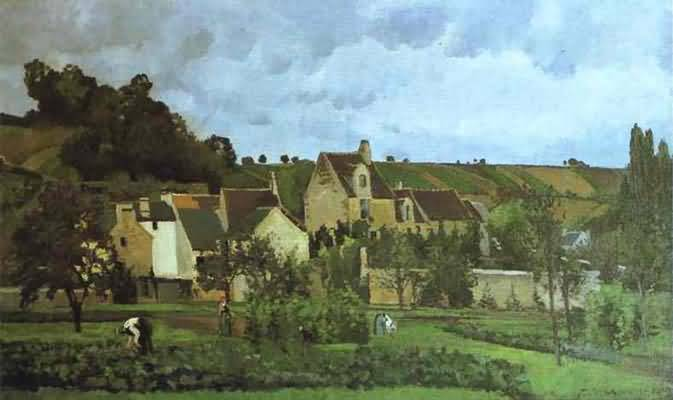 Camille Pissarro L Hermitage a Pontoise Oil Painting