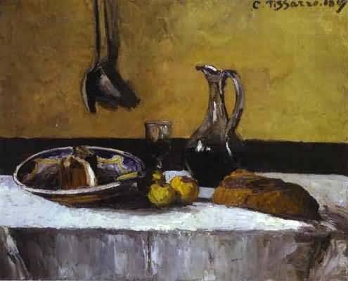 Camille Pissarro Still Life Oil Painting